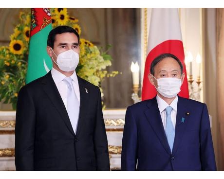 Türkmen wekiliýeti Tokioda möhüm duşuşyklary geçirdi hem-de Olimpiýa oýunlarynyň açylyş dabarasyna gatnaşdy